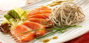 salmón ahumado con la gula del norte
