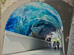 Túnel de Miramart patrocinado por Angulas Aguinaga