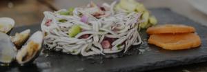 Ceviche de pulpo con almejas