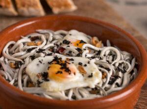 La Gula del Norte® con trufa negra de Teruel y huevos de codorniz