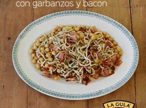 La Gula del Norte® con garbanzos y bacon