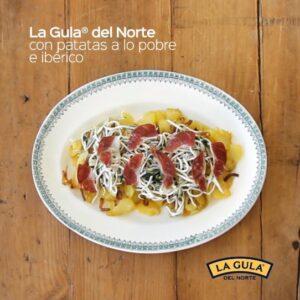Receta de La Gula del Norte® con patatas a lo pobre e ibérico
