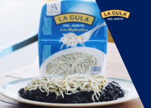 La Gula® del Norte con risotto negro de calamar